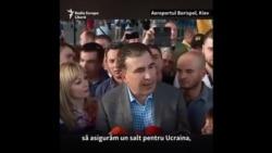 Sakashvili a revenit la Kiev. Primele declarații