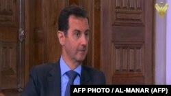 تصویری از مصاحبه بشار اسد با شبکه المنار