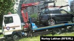 На месте инцидента в Алматы. Иллюстративное фото. 20 мая 2015 года.