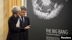 Президент України Петро Порошенко та голова МВФ Крістін Лагард