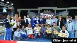 15 сентябрь куни Самарқандда якунланган профессионал бокс бўйича Ўзбекистон чемпионати совриндорлари.