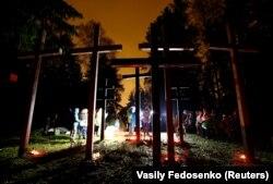 Народний меморіал Куропати під Мінськом, місце масових розстрілів сталінського режиму