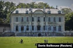 Vila La Grange, situată în Eaux-Vives, înaintea summit-ului din 16 iunie dintre președintele american Joe Biden și președintele rus Vladimir Putin - Geneva, 4 iunie 2021