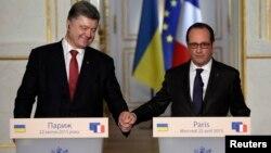 Петро Порошенко і Франсуа Олланд