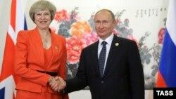 Китай, Ханчжоу, 4 сентября 2016, премьер-министр Великобритании Тереза Мэй и президент России Владимир Путин