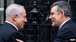 گوردون براون، نخس وزیر بریتانیا و بنیامین نتانیاهو، همتی اسرائیلی او در لندن