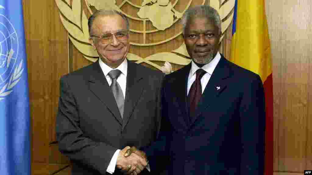 Întâlnire la new York cu secretarul general al ONU, Kofi Annan - 2004