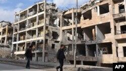 تصویری از ویرانههای حلب