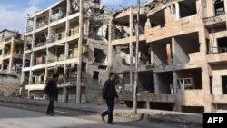 Алеппо, Сирия, 23 декабря 2016 года.