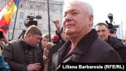 Vladimir Voronin la protestele antiguvernamentale din martie.