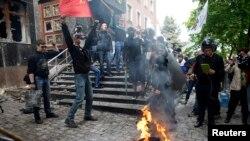Donetskdə qarşıdurma
