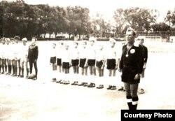 Галоўны судзьдзя турніру «Скураны мяч» (1982 год)