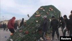 ناآرامی در ژانا اوزِن، قزاقستان- ۲۵ آذرماه