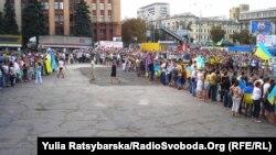 «Живий» тризуб у Дніпропетровську