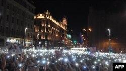 Proteste antiguvernamentale la Budapesta, aprilie 2018