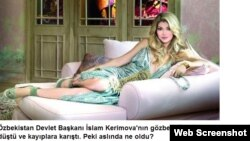 """İslam Kərimovun qızı Gulnara Karimova ,""""Hurriyet"""", 9 dekabr 2013"""