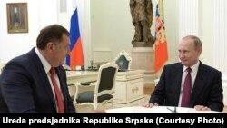 Susret Milorada Dodika i Vladimira Putina u Moskvi: Razmijenjena mišljenja o aktuelnim pitanjima na međunarodnom planu