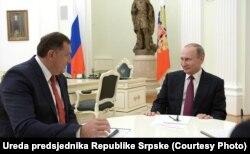 Milorad Dodik i Vladimir Putin, Moskva, septembar 2016.
