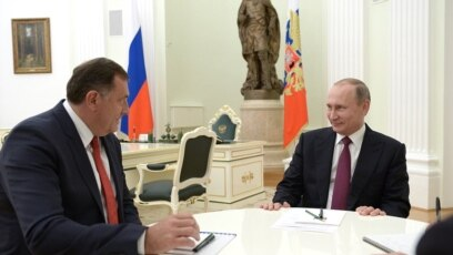 Milorad Dodik, član Predsjedništva BiH i Vladimir Putin, predsjednik Rusije