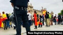 Sa protesta u Barseloni, 1. oktobar (ilustracija)