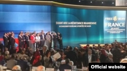 "Paris, July 1: ""Free Iran"" gathering, organized by the National Council of Resistance of Iran, the political wing of the MEK"