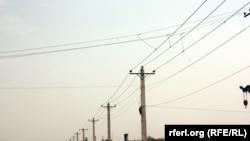 Owgan paýtagty Kabuldaky elektrik geçiriji liniýalar.