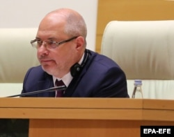 Сергей Гаврилов в кресле спикера парламента Грузии