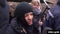 Монах әйел Параскева сұхбат беріп тұр. Мцхета, 7 қаңтар 2013 жыл.