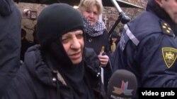 Монахиня Параскева дает интервью журналистам. Мцхета, 7 января 2013 года.