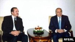Ədalət və İnkişaf Partiyasının lideri Rəcəb Tayyib Ərdoğan və prezident Heydər Əliyev, Bakı, 7 yanvar 2003