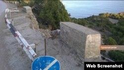 Дорога в поселке Новый Свет