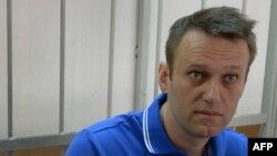 Российский оппозиционер Алексей Навальный в суде. 1 августа 2014 года.