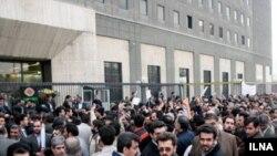 تظاهرات معلمان در روزپانزدهم اسفندماه در مقابل مجلس شورای اسلامی