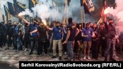 Одна з протестних акцій «Азову» біля українського парламенту, 20 травня 2016 року