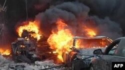 تصویر انفجار روز چهارشنبه در شهر حمص سوریه
