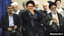 حضور محمود احمدی نژاد در مراسم تنفیذ حسن روحانی