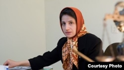 "Nasrin Sotoudeh was sentenced to 11 years in prison in January on charges including ""acting against national security."""