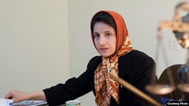 Jailed Iranian human rights lawyer Nasrin Sotoudeh started a hunger strike in the same prison last week after prison authorities banned her relatives from visiting.