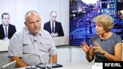 Борис Надеждин и Наталья Зубаревич в студии Радио Свобода