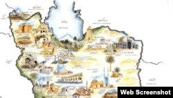 نقشه گردشگری ایران