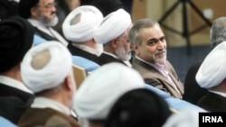 Hossein Fereydoun (C), brother of Iranian President Hassan Rouhani, undated.