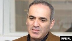 Russian chess grandmaster and human rights activist Garry Kasparov