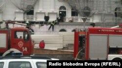 Пожар во зградата на владата.