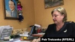 Шаруа серіктестігінің басшысы Елена Уланова. Батыс Қазақстан облысы, ақпан 2018 жыл.