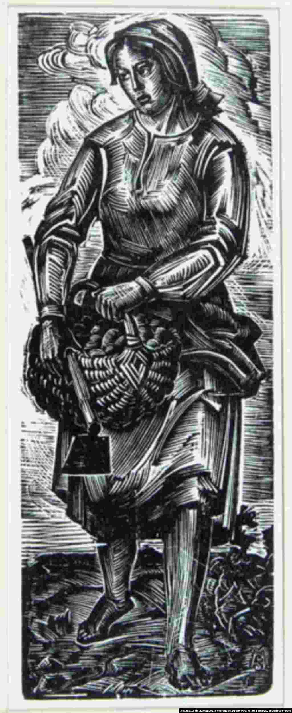 Міхась Сеўрук.Вяртаньне з працы. 1938