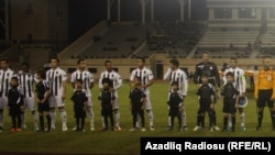 Azerbaijan -- Neftchi - Rubin football match, Baku, 08Nov2012
