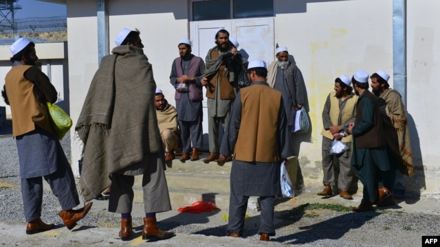 Kabul has recently freed hundreds of Taliban militants inside Afghanistan, including these men, who walked free from Pol-e Charkhi prison outside Kabul on January 3.