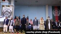 په وروستۍ لویه جرګه کې د افغان حکومت مرکچي پلاوي د ګډون یو انځور