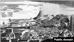 منظره شهر دربند در سال ۱۶۳۷