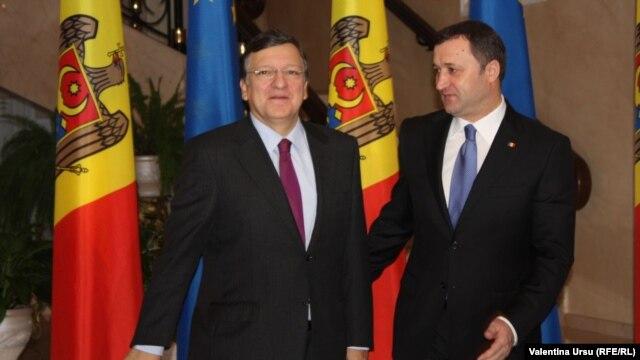 Jose Manuel Barroso și Vlad Filat, Chișinău 30.11.2012.